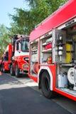 πυρκαγιά ταξιαρχιών Στοκ εικόνα με δικαίωμα ελεύθερης χρήσης