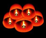 πυρκαγιά Ταϊλανδός μπαλονιών στοκ εικόνες