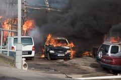 πυρκαγιά τεράστια Στοκ Εικόνες
