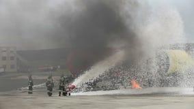 Πυρκαγιά τραίνων απόθεμα βίντεο