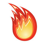 πυρκαγιά τυποποιημένη Στοκ Εικόνες