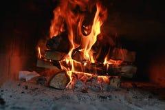 Πυρκαγιά φλογών στο φούρνο Στοκ Εικόνα