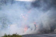Πυρκαγιά φορτηγών Στοκ Εικόνα