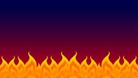 Πυρκαγιά, φωτιά, φλόγα πυρκαγιάς που απομονώνεται στο σκοτεινό υπόβαθ ελεύθερη απεικόνιση δικαιώματος