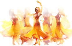 πυρκαγιά χορού Στοκ Εικόνες
