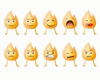 Πυρκαγιά emoticon Στοκ φωτογραφία με δικαίωμα ελεύθερης χρήσης