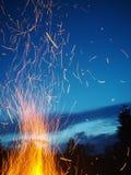 Πυρκαγιά fireflies Στοκ Εικόνες