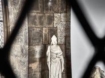 Πυροβοληθείς ενός αγάλματος στον καθεδρικό ναό του ST Stephans στοκ φωτογραφία