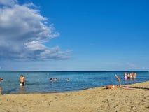 Πυροβοληθείς της όμορφης τροπικής παραλίας SAN Lorenzo στοκ εικόνες με δικαίωμα ελεύθερης χρήσης
