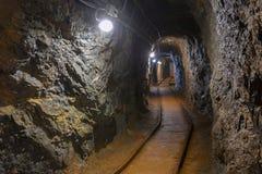 Πυροβολισμός γωνίας μεταβάσεων υπόγειων ορυχείων Στοκ εικόνα με δικαίωμα ελεύθερης χρήσης
