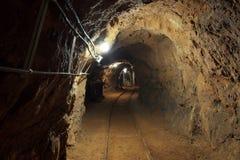 Πυροβολισμός γωνίας μεταβάσεων υπόγειων ορυχείων Στοκ Εικόνες