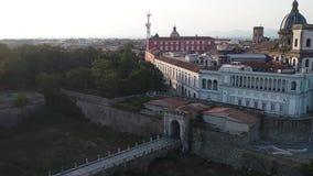 Πυροβολισμός Aero, μια παλαιά ιταλική πόλη απόθεμα βίντεο