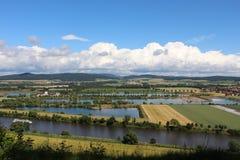 Πυροβοληθείς της χώρας βουνών Weser Στοκ Εικόνες