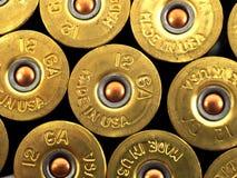 Πυροβοληθε'ντα κοχύλια πυροβόλων όπλων Στοκ Εικόνα