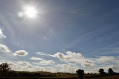 Πυροβοληθε'ν τοπίο Alfreton στο Derbyshire Στοκ Εικόνες