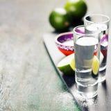 Πυροβολισμοί Tequila Στοκ Εικόνες