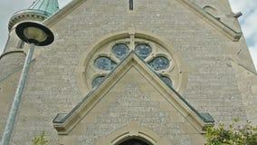 Πυροβολισμός γερανών εκκλησιών απόθεμα βίντεο
