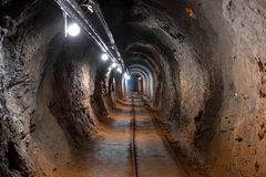Πυροβολισμός γωνίας μεταβάσεων υπόγειων ορυχείων Στοκ Εικόνα