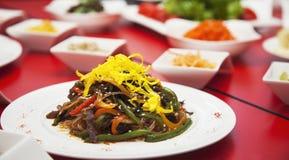 Πυροβολισμός εστιατορίων επιτραπέζιων φωτογραφιών κρέατος τροφίμων στοκ φωτογραφίες με δικαίωμα ελεύθερης χρήσης