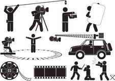 πυροβολισμός κινηματογράφων Στοκ Εικόνες