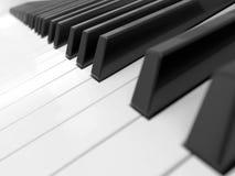 Πυροβολισμός κινηματογραφήσεων σε πρώτο πλάνο πληκτρολογίων πιάνων Στοκ Εικόνες