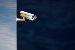 Πυροβολισμός νύχτας κάμερων ασφαλείας Στοκ Εικόνες