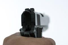 Πυροβολισμός πυροβόλων όπλων Στοκ εικόνες με δικαίωμα ελεύθερης χρήσης