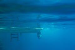 Πυροβολισμός σκαφών από το νερό Στοκ Φωτογραφίες