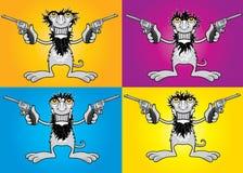 Πυροβολισμός τύπων χωρών χαμόγελου τριχωτός με τα πουλάρια ελεύθερη απεικόνιση δικαιώματος