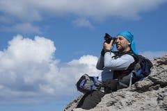 Πυροβολισμός φωτογράφων υπαίθριος Στοκ φωτογραφία με δικαίωμα ελεύθερης χρήσης