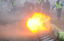 Πυροβολισμός Carbid στις Κάτω Χώρες στοκ φωτογραφία