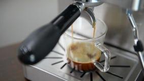 Πυροβολισμός Espresso απόθεμα βίντεο