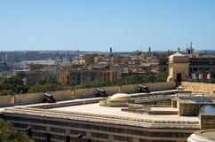 Πυροβόλα στους κήπους του ST James Counterguard Barrakka, Valletta, μΑ στοκ φωτογραφία με δικαίωμα ελεύθερης χρήσης