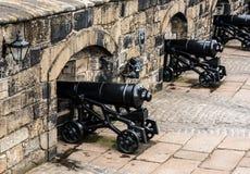 Πυροβόλα στο Εδιμβούργο Castle Στοκ εικόνες με δικαίωμα ελεύθερης χρήσης