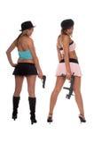 πυροβόλα όπλα κοριτσιών Στοκ φωτογραφία με δικαίωμα ελεύθερης χρήσης