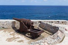 Πυροβόλο στο αμυντικό forte - Αβάνα Κούβα Στοκ εικόνα με δικαίωμα ελεύθερης χρήσης