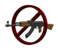 πυροβόλο όπλο απαγόρευ&sigma Στοκ Εικόνες