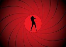 πυροβόλο όπλο δεσμών βαρ&eps ελεύθερη απεικόνιση δικαιώματος