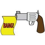 Πυροβόλο όπλο κινούμενων σχεδίων Στοκ Εικόνες