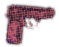 πυροβόλο όπλο λουλου&de Στοκ Εικόνες