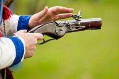 πυροβόλο όπλο μεσαιωνι&kapp στοκ εικόνα