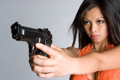 πυροβόλο όπλο που δείχν&epsil στοκ εικόνα