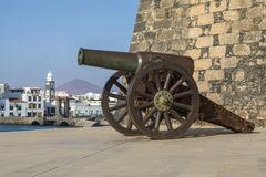 Πυροβόλο Castello de SAN Gabriel Arrecife Στοκ εικόνες με δικαίωμα ελεύθερης χρήσης