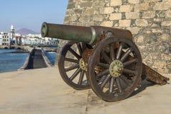 Πυροβόλο Castello de SAN Gabriel Arrecife Στοκ εικόνα με δικαίωμα ελεύθερης χρήσης