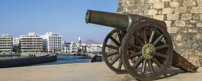 Πυροβόλο Castello de SAN Gabriel Arrecife Στοκ Φωτογραφίες