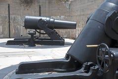 Πυροβόλα ενός παλαιού οχυρού Στοκ εικόνα με δικαίωμα ελεύθερης χρήσης