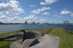 Πυροβόλα όπλα οχυρών Trekroner Στοκ εικόνα με δικαίωμα ελεύθερης χρήσης