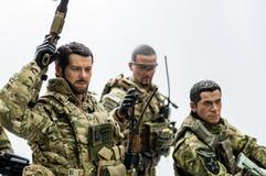 Πυροβόλα όπλα στρατιωτών παιχνιδιών Στοκ εικόνες με δικαίωμα ελεύθερης χρήσης