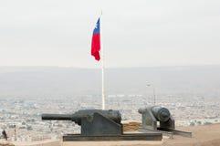 Πυροβόλα - Arica - Χιλή Στοκ Φωτογραφία