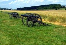 Πυροβόλο πεδίων μαχών Gettysburg Στοκ Φωτογραφία